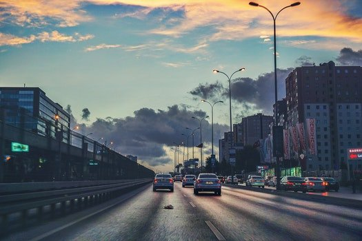 Free stock photo of city, cars, road, traffic