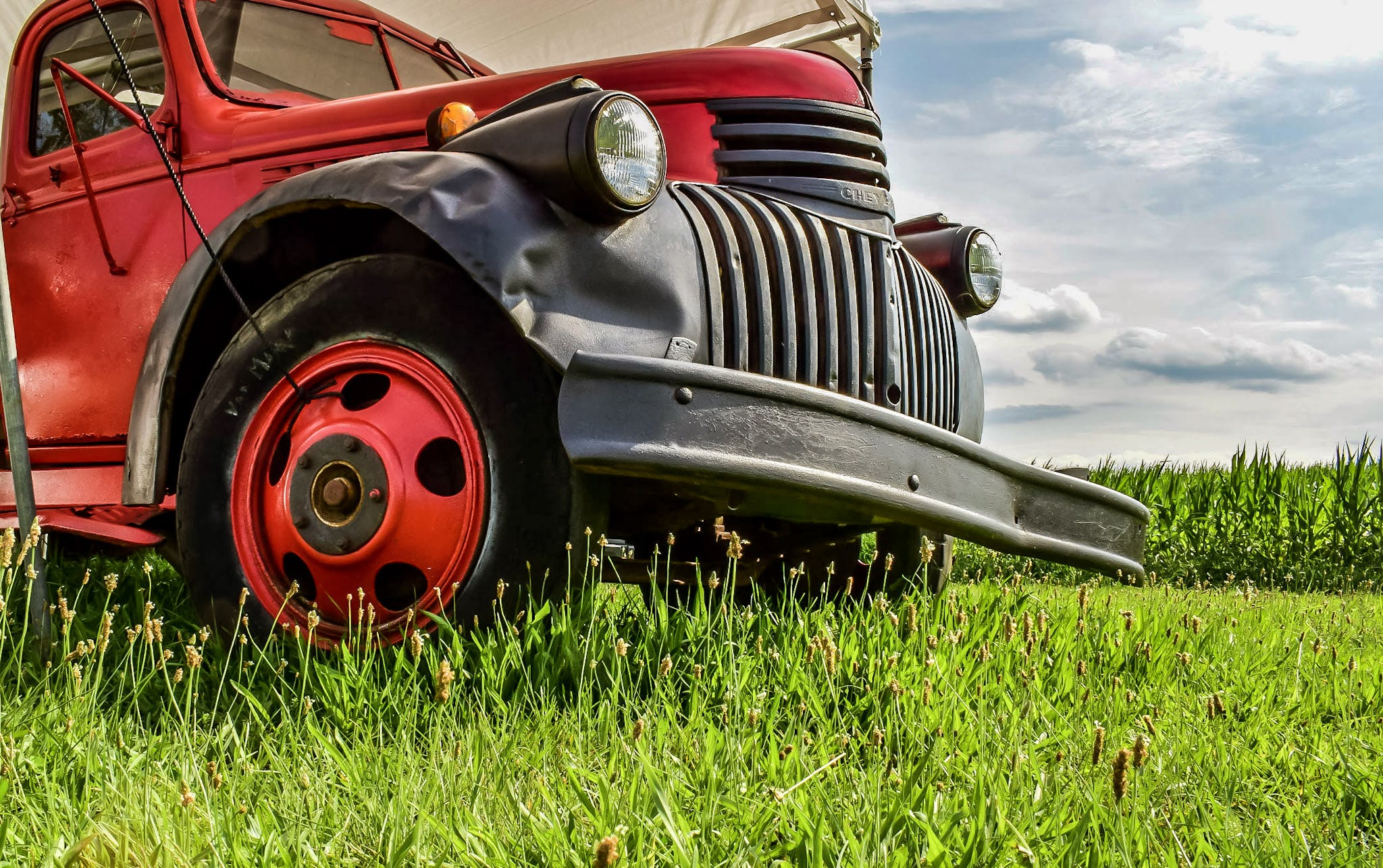 Free stock photo of field, car, vehicle, vintage