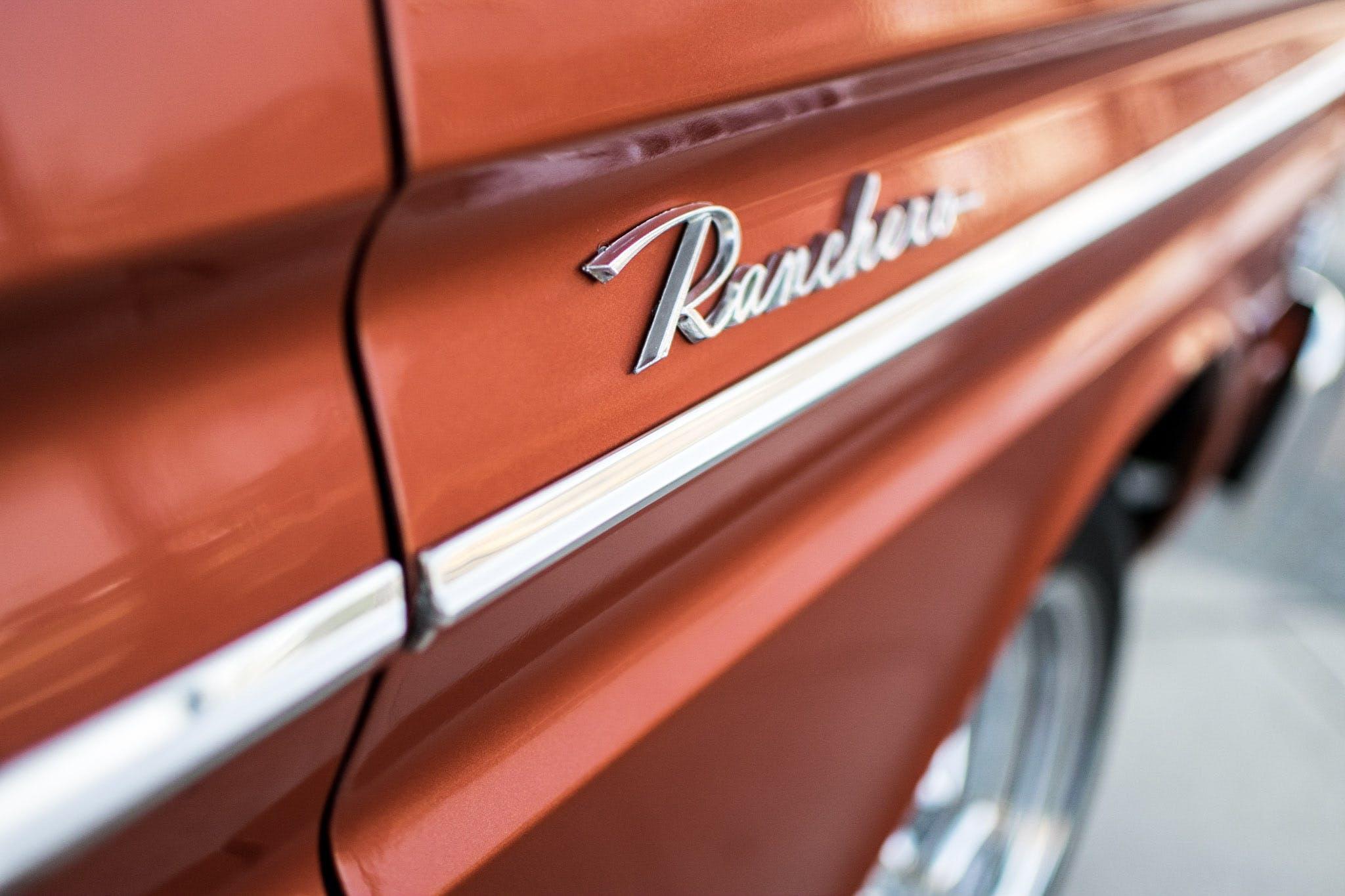 Free stock photo of car, classic car, ranchero, red