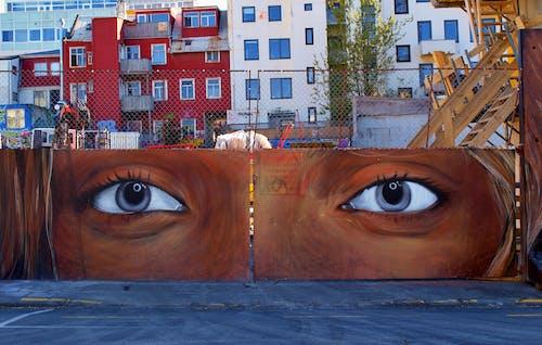 Free stock photo of art, city street, eyes