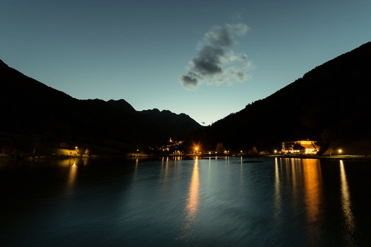 Free stock photo of light, sky, lights, lake