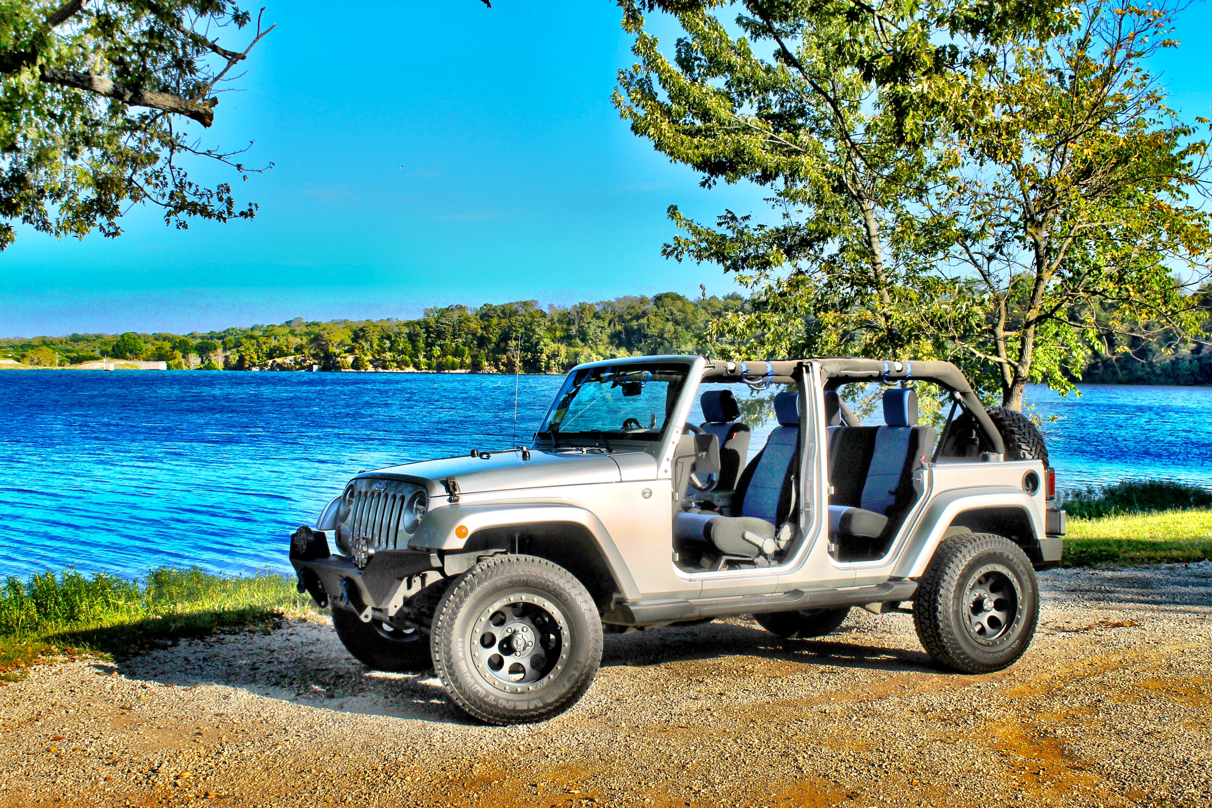 Free stock photo of water, lake, outdoors, jeep