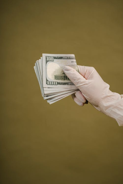 A Person Holding Dollar Bills