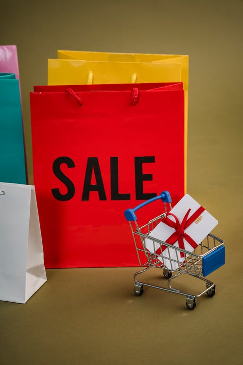 Immagine gratuita di borse, carrello della spesa, cartellino
