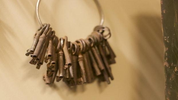 Free stock photo of vintage, keys, retro, old photo