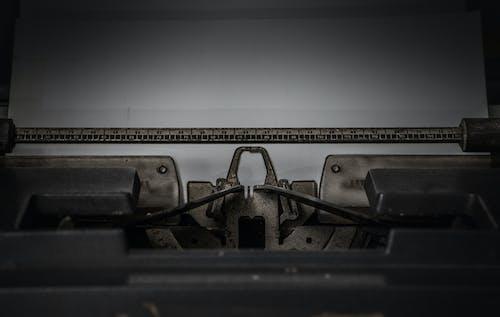Empty Printer Paper in Typewriter