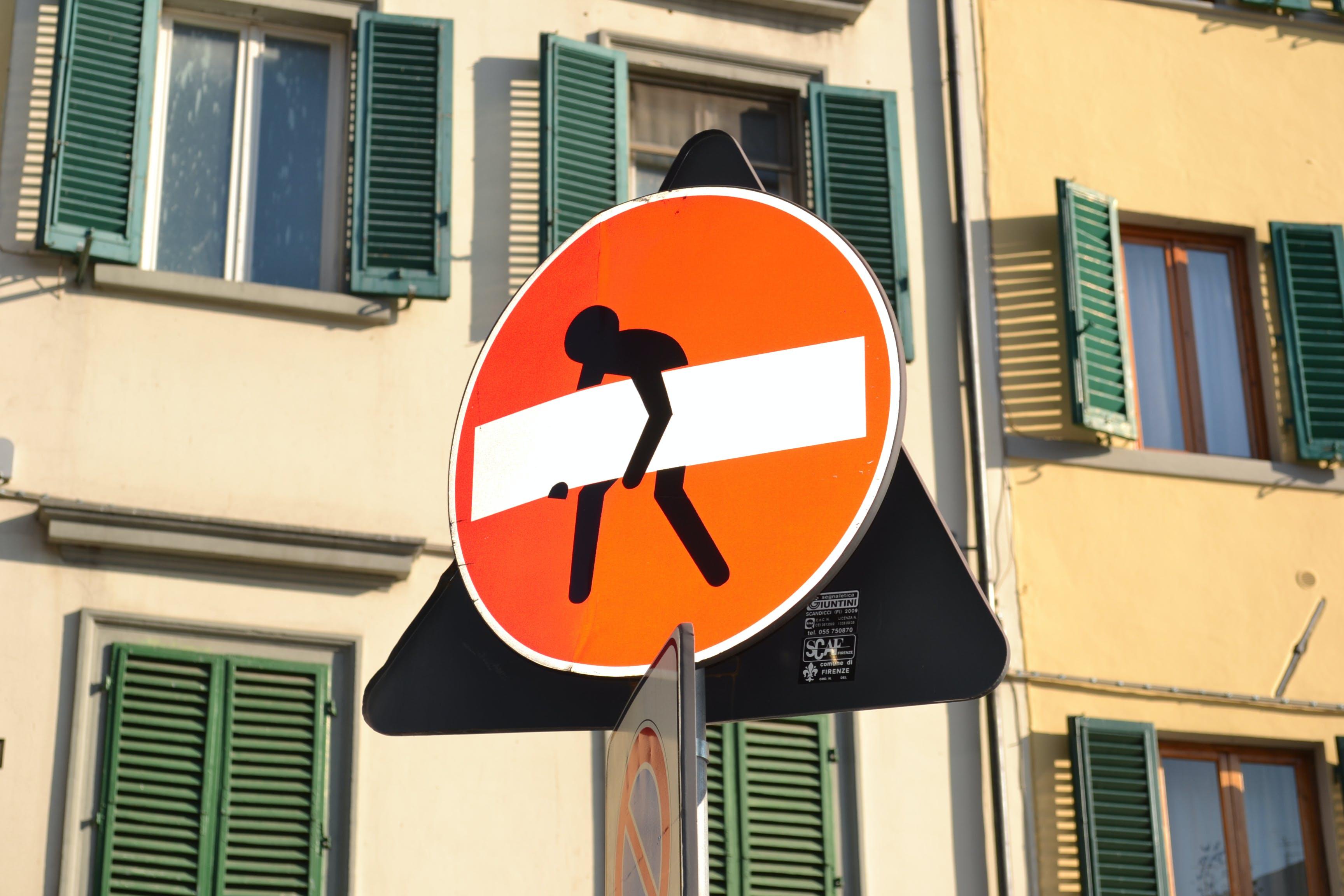 Free stock photo of panneau gag