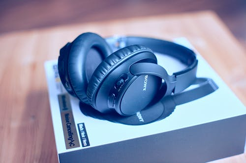 Free stock photo of black headphones, head set, headphones