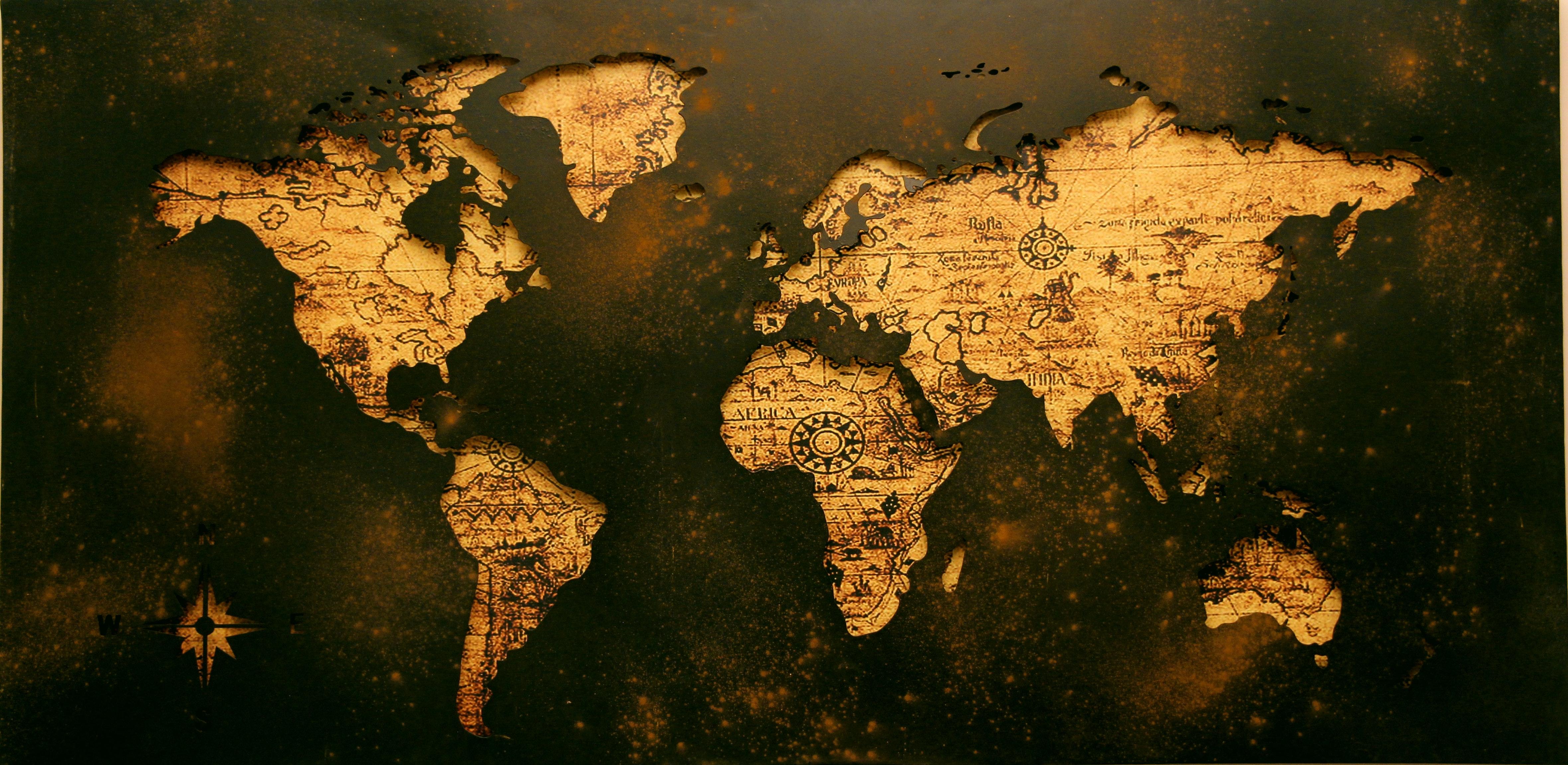 Cartina Mondo Alta Risoluzione.Illustrazione Della Mappa Del Mondo Foto Gratuita