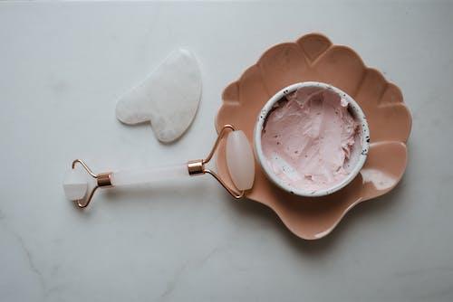 White and Pink Ice Cream on White Ceramic Mug