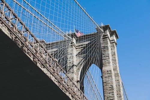 Low Angle Shot of a Concrete Bridge