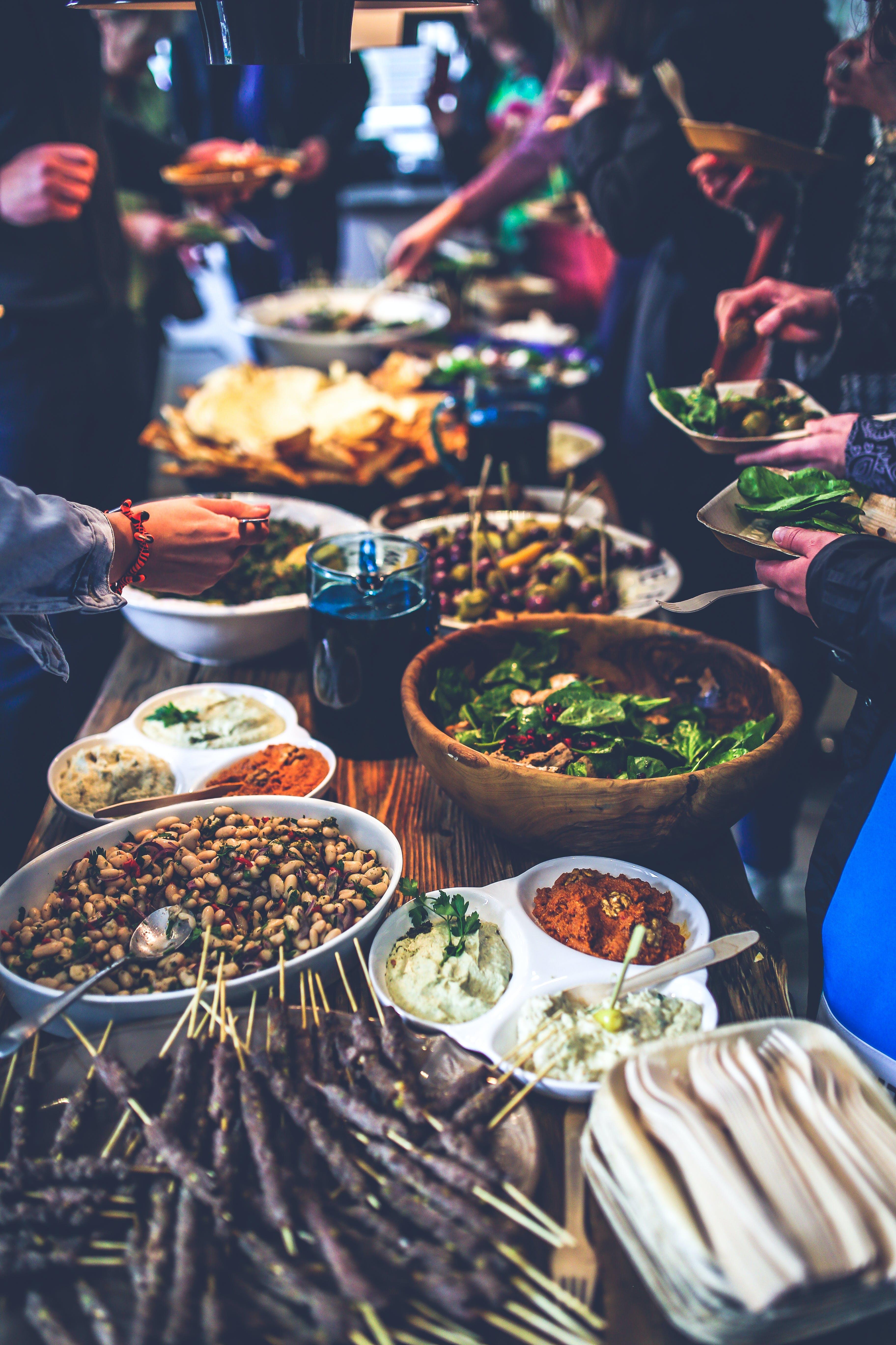 buffet, delikat, fejring