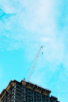 Free stock photo of building, construction, crane, tower