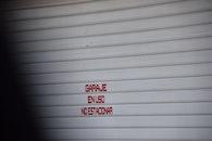 garage, do not park