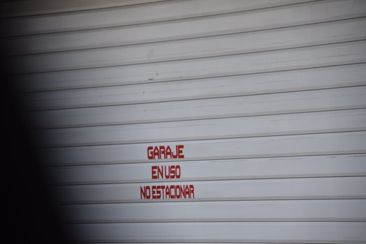 Free stock photo of garage, do not park