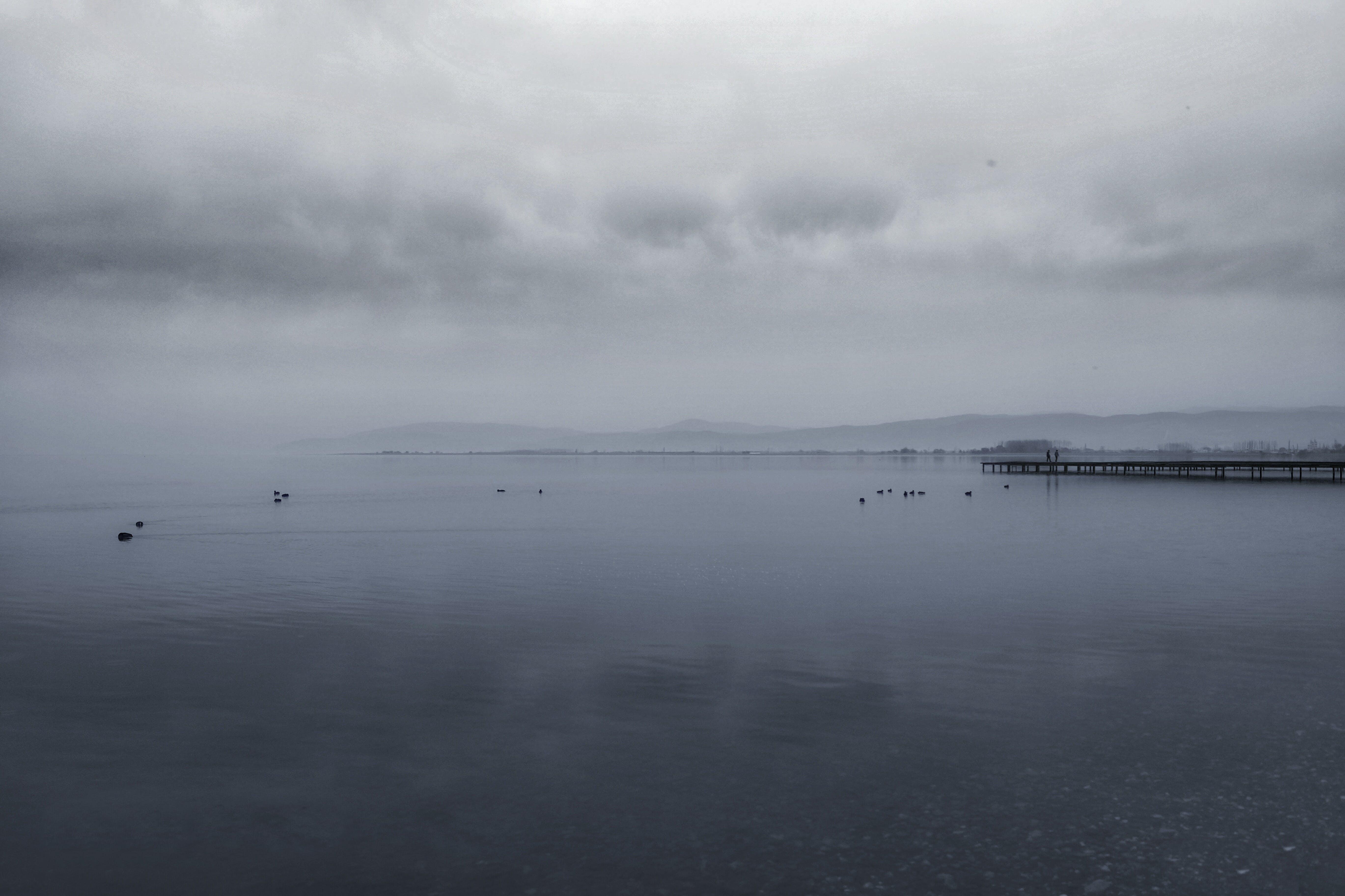 Безкоштовне стокове фото на тему «вода, док, похмура погода, спокійний»
