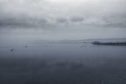 冷靜, 多雲的, 有薄霧的, 水 的 免費圖庫相片