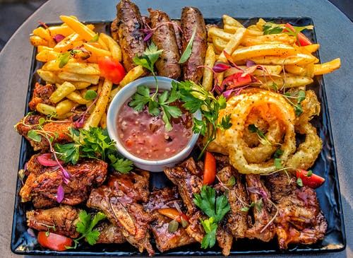Free stock photo of canon, food platter, grilled meat