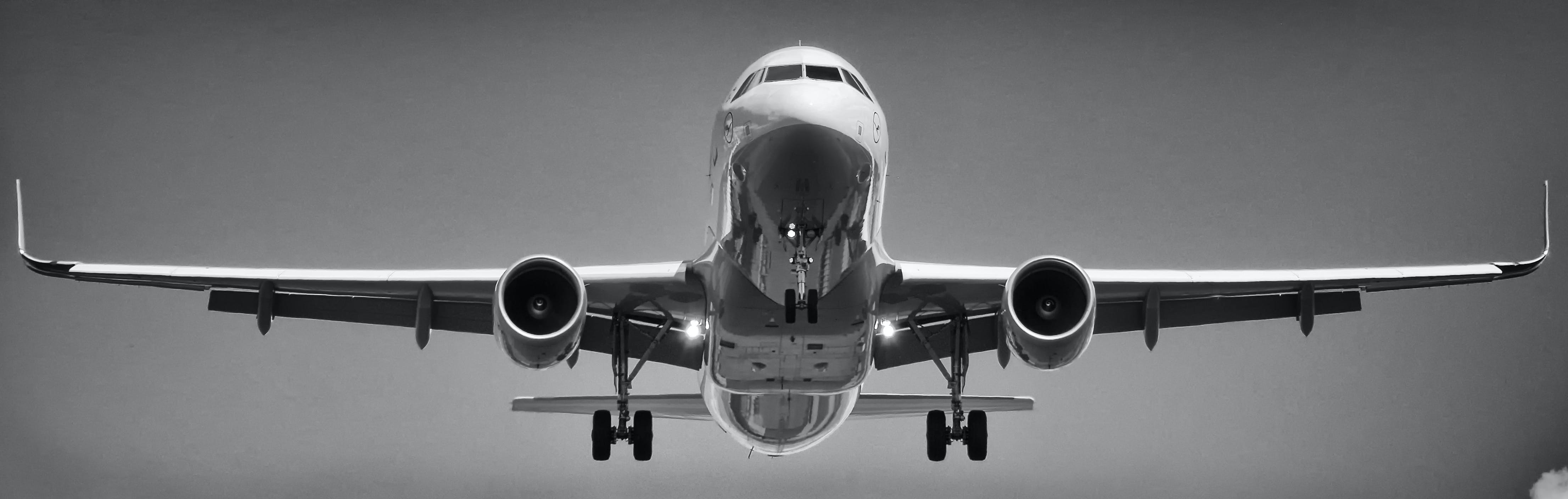 Free stock photo of airplane, airport, black-and-white