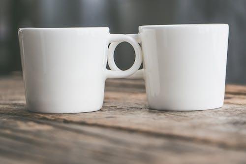 Imagine de stoc gratuită din adâncime de câmp, cană de cafea, cană de ceramică, căni