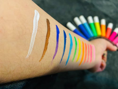 Free stock photo of bright colors, colorful, eyeliner
