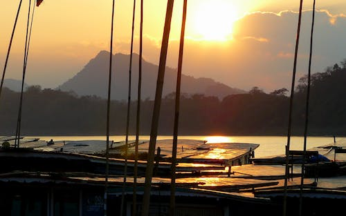 Free stock photo of asia, boat, laos