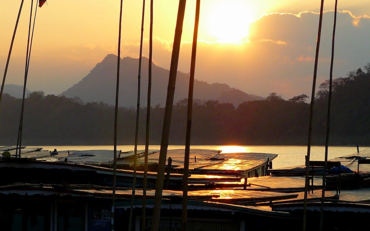 Free stock photo of asia, boat, laos