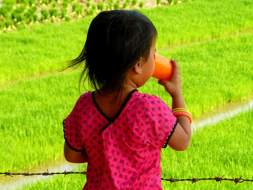 Free stock photo of asia, child, drinking