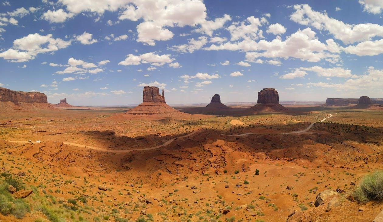 Brown Sand Under Blue Sky