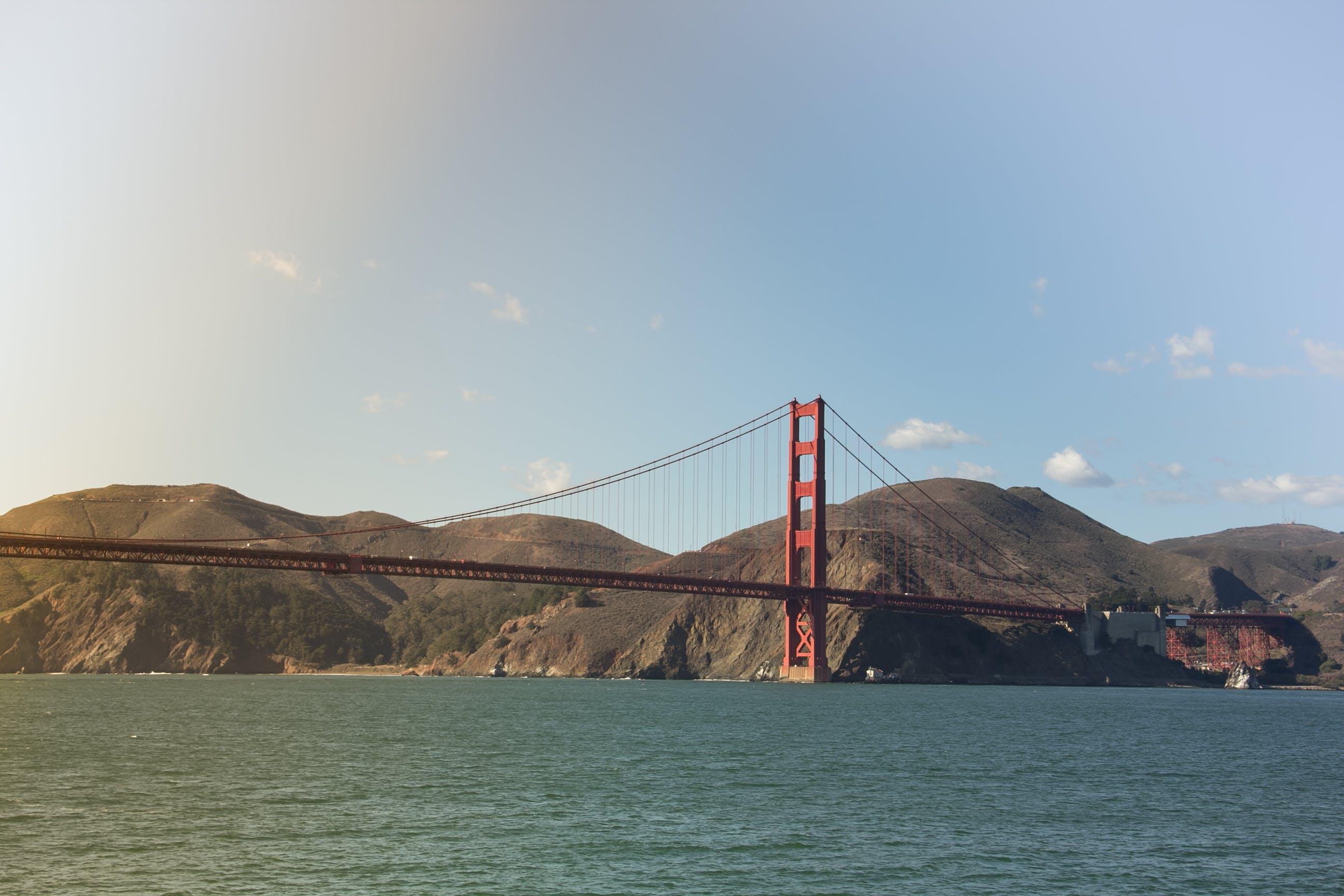 bridge, clouds, environment