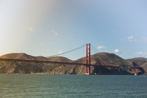 Immagine gratuita di acqua, ambiente, cielo, golden gate bridge
