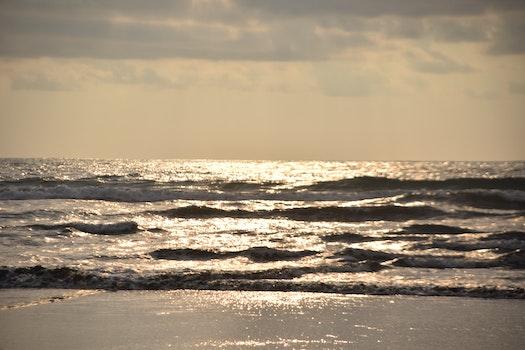 Free stock photo of sea, sky, clouds, seashore