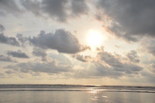 Free stock photo of sea, sky, sun, seashore