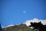 mountain, moon, cloud