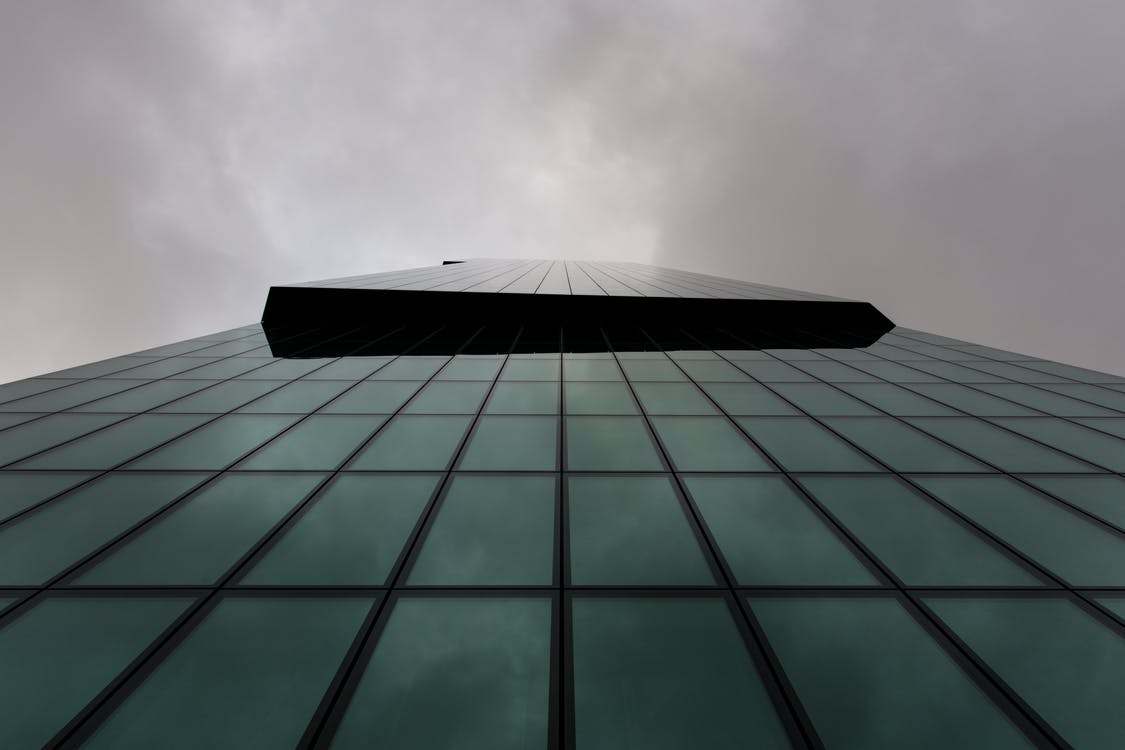 Free stock photo of cloudy, glass, high rise