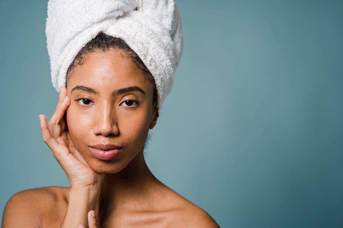 moisturized face of a girl