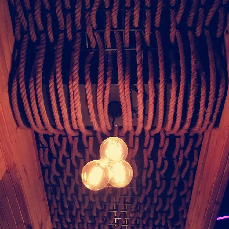 Free stock photo of interior design, lights, lounge
