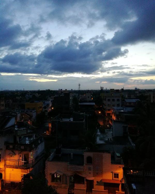 Foto stok gratis berawan, kota, malam