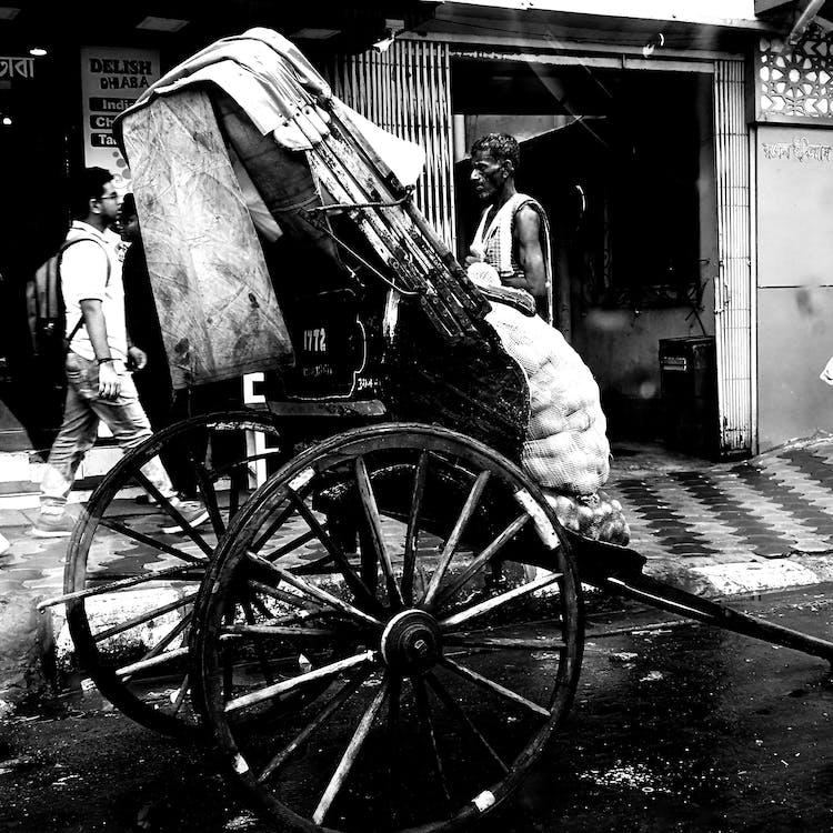 Free stock photo of bengal, kolkata, rickshaw