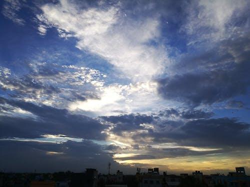 Бесплатное стоковое фото с вечер, город, небо