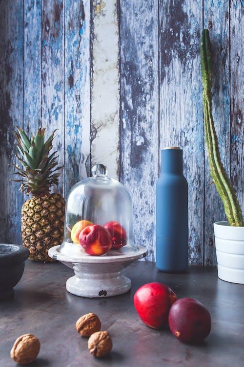 Základová fotografie zdarma na téma ananas, broskve, jídlo, kuchyně