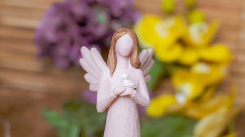 Girl in White Dress Ceramic Figurine