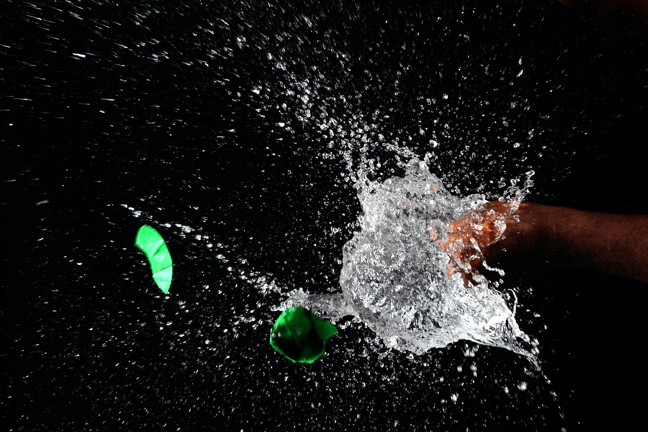 Macroshot of Water Drops