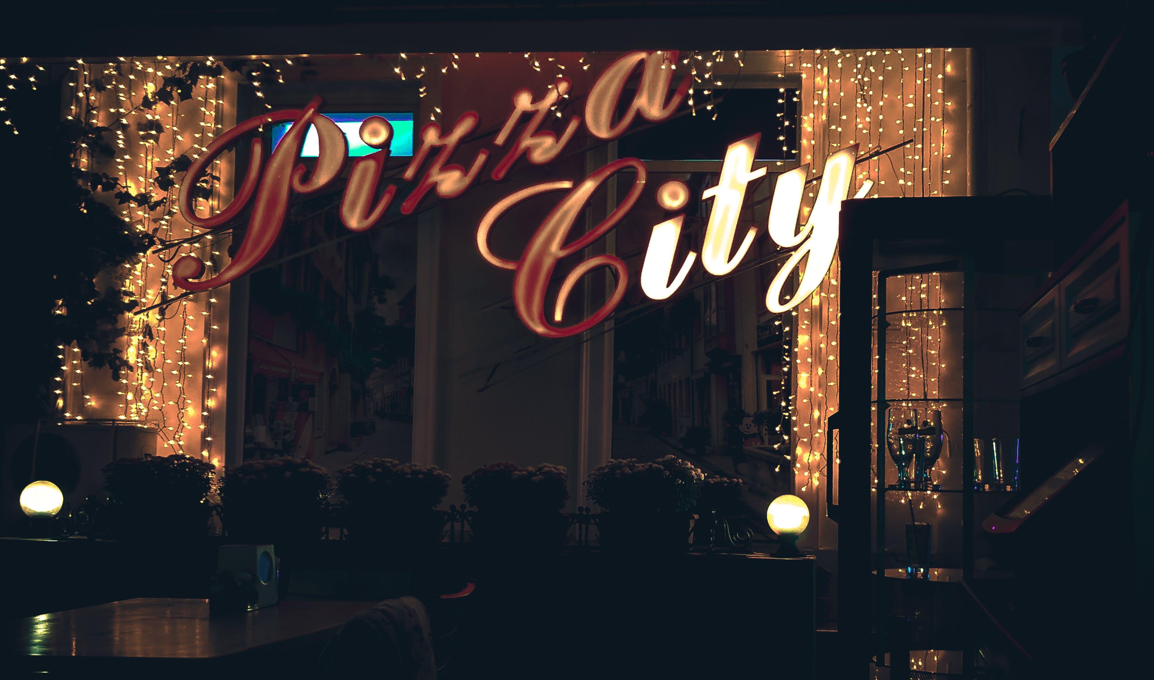 Pizza City Neon Signage