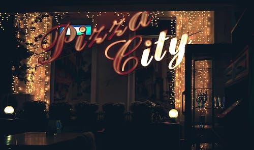 Señalización De Neón De Pizza City