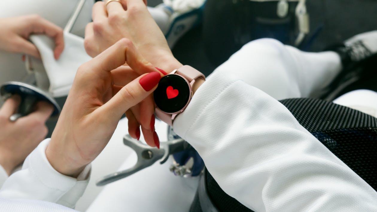 Woman Wearing Smartwatch