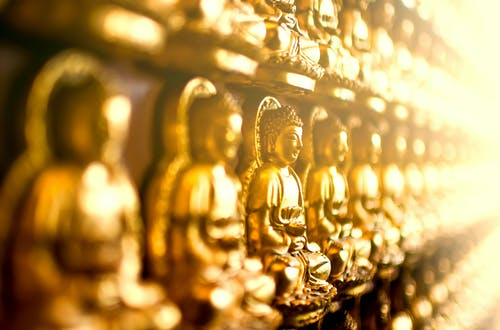 Gold Buddha Figurine Lot
