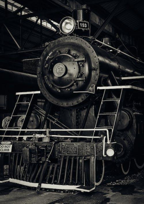 Black and Gray Steam Engine Train