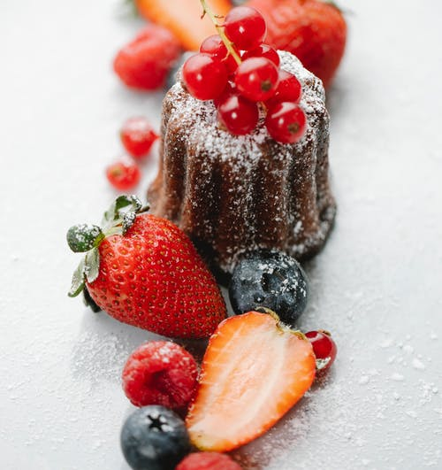 Delicious Dessert Decorated with Mixed Berries