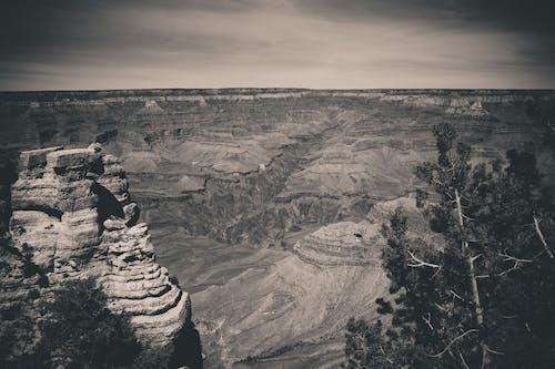 Imagine de stoc gratuită din alb-negru, canion, Marele Canion